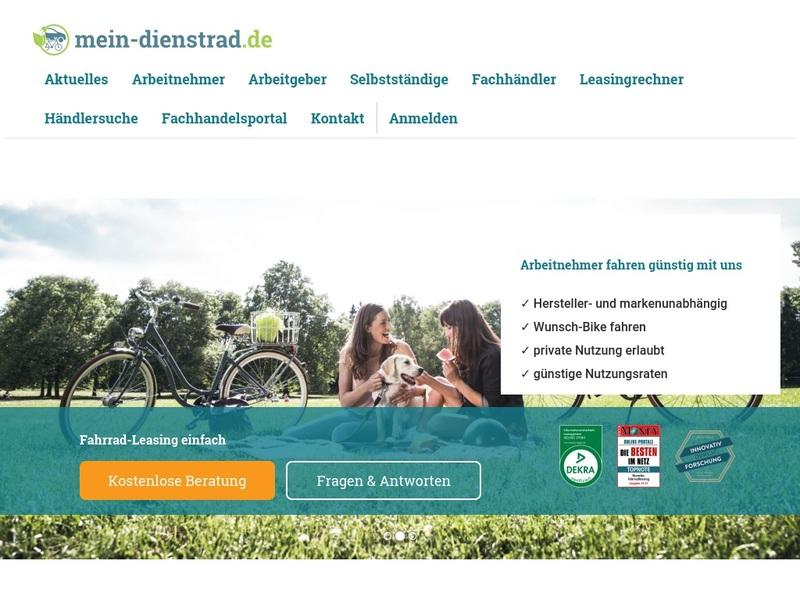 Screenshot von https://www.mein-dienstrad.de